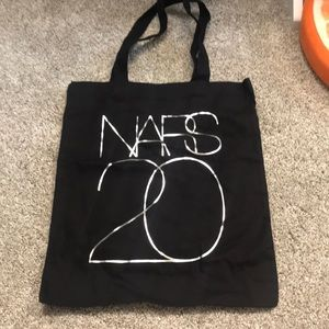 Nars limited edition black tote bag silver